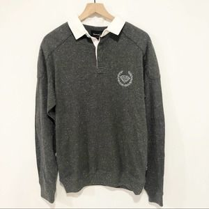 Diamond Co. gray long sleeve collared pullover L